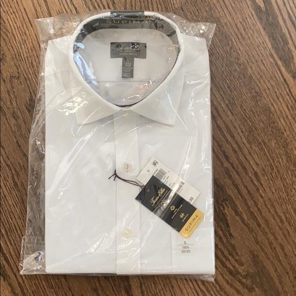 NWT white dress shirt Tasso Alba size 16.5/33-34